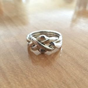 Sterling Silver Italian Puzzle Ring